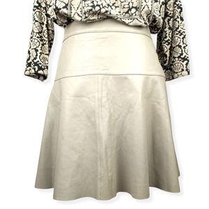 Banana Republic Taupe Lamb's Leather Skirt   12